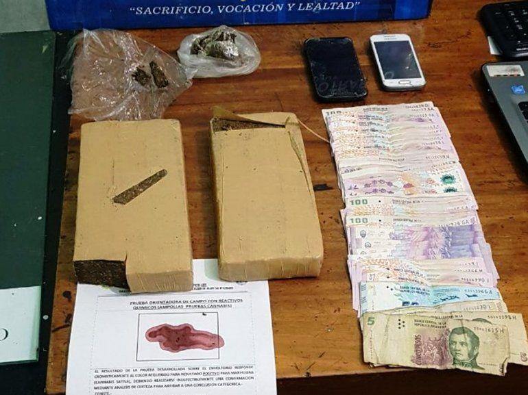El Carmen: los detienen por llevar casi 2 kilos de marihuana en la camioneta