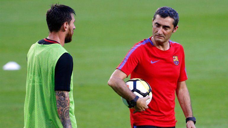 ¿Bronca en el Barcelona? Según la prensa, Messi se cruzó con el técnico Valverde