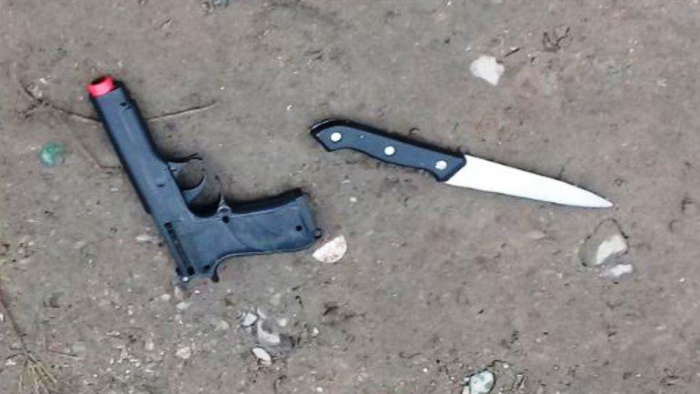 Amedrentaban a los vecinos de la zona sur con una pistola de juguete