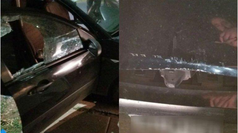 Destruyó un auto a palazos para que deje de sonar la alarma