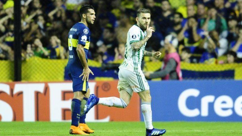 Boca perdió con Palmeiras y complicó su clasificación