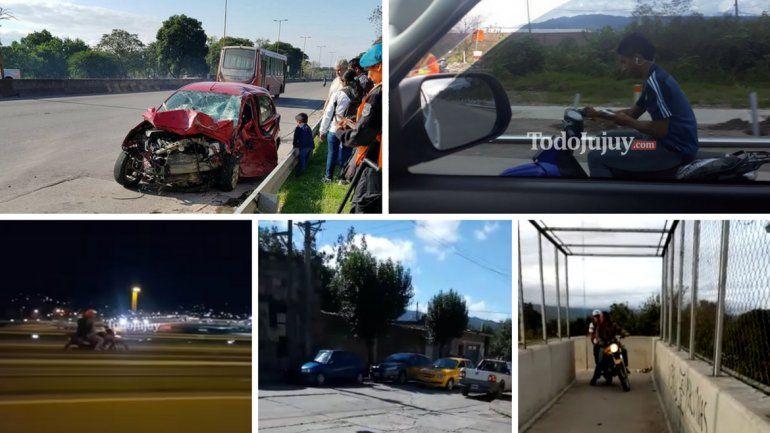 Autos, motos a contramano y motociclistas sin casco: un reflejo de la inconsciencia