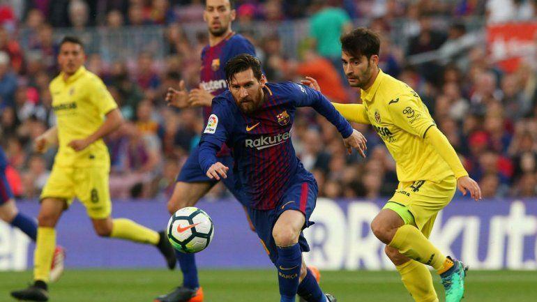 Messi anotó un uno de los tantos en la goleada de Barcelona al Villarreal 5-1