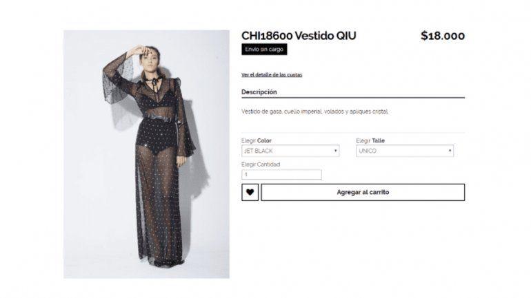 Los insólitos precios del local de ropa de la China Suárez