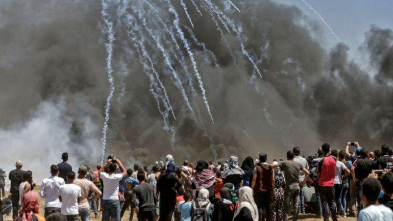 Más de 50 muertos en Gaza por el traslado de de la embajada de EE.UU a Jerusalén