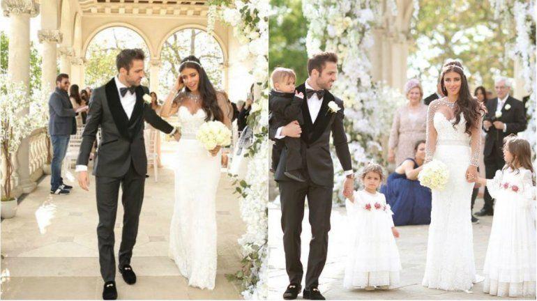 Cesc Fàbregas se casó con Daniella Semaan, la amiga de Antonela Roccuzzo