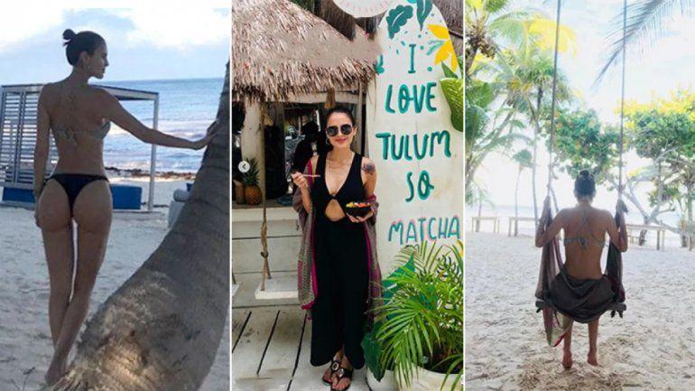 Silvina Luna disfruta de unos días de relax en playas Mexicanas