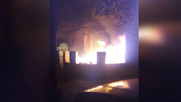 Incendio en San Pedrito