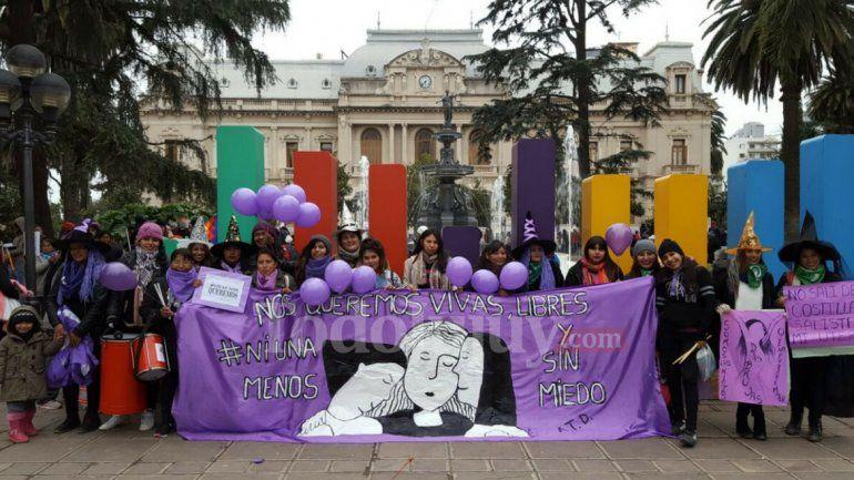 Con reclamos por el aborto, marcharon en Jujuy y en todo el país bajo la consigna Ni una menos