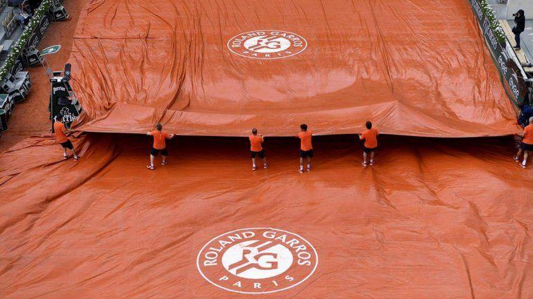 Se canceló la jornada por lluvia y Del Potro-Cilic seguirán jugando mañana