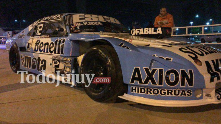 Ortelli presentó el nuevo diseño de su auto en Jujuy