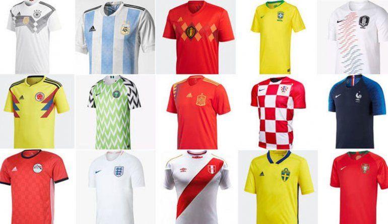 Una más linda que otra: las camisetas de las 32 selecciones del mundial de Rusia