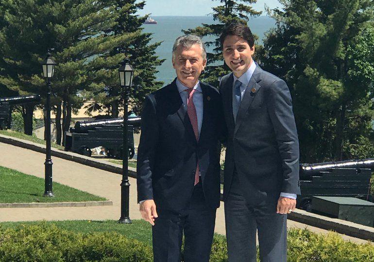 Macri en Canadá