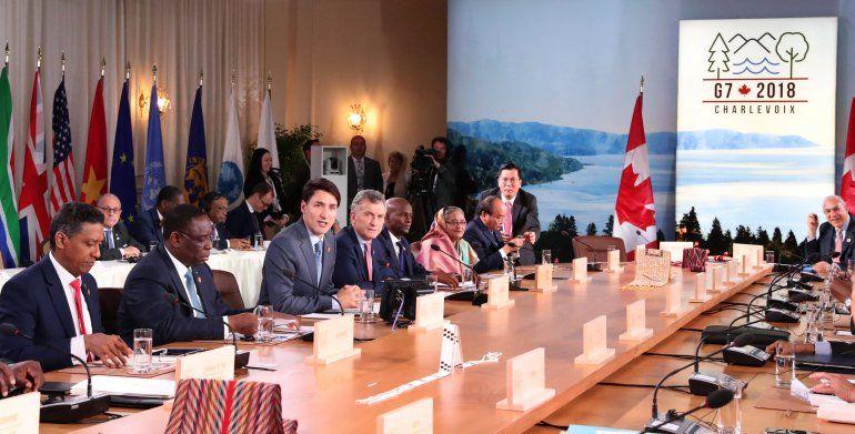 Mauricio Macri está en Canadá como invitado en la reunión del G7