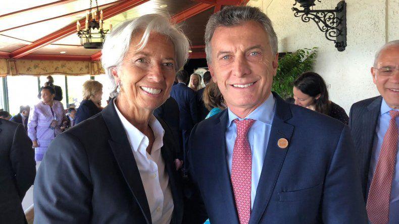 Macri con Christine Lagarde