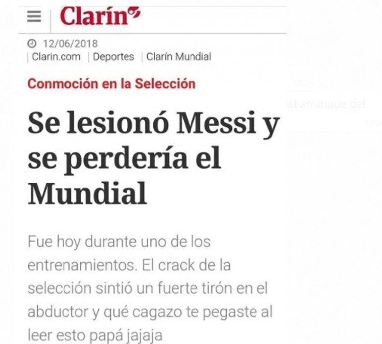 Se lesionó Messi: La broma viral que casi infarta a todos los argentinos