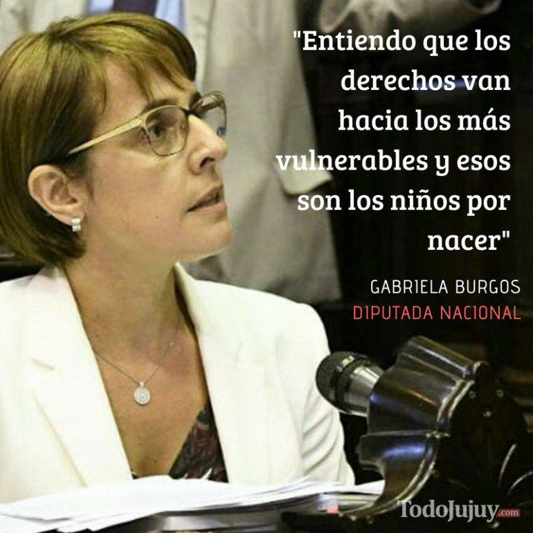 Gabriela Burgos: Entiendo que los derechos van hacia los más vulnerables y esos son los niños por nacer