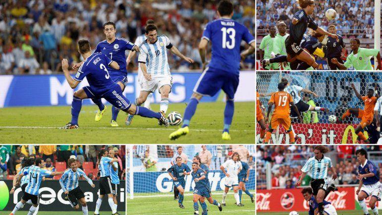 Estos son los últimos 6 debuts de Argentina en los mundiales