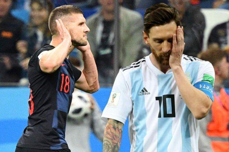 Un jugador Croata no quiso cambiar su camiseta con Messi: Las razones en la nota