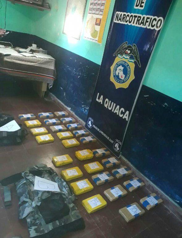 Incautan cocaína valuada en 12 millones de pesos durante un procedimiento en La Quiaca