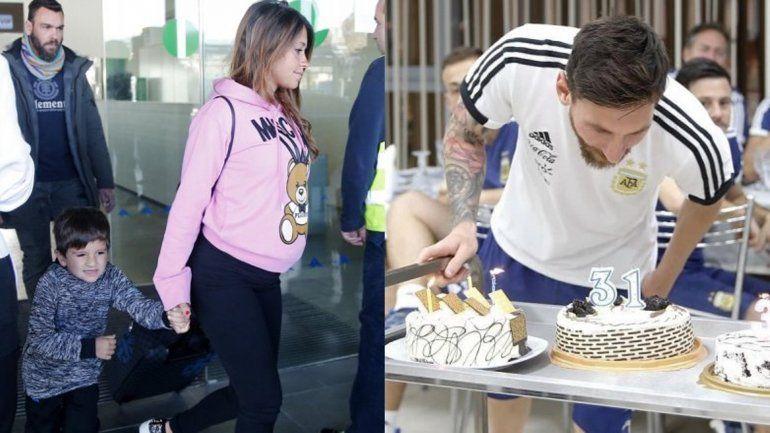 Antonella Roccuzzo viajó a Rusia para reencontrarse con Messi