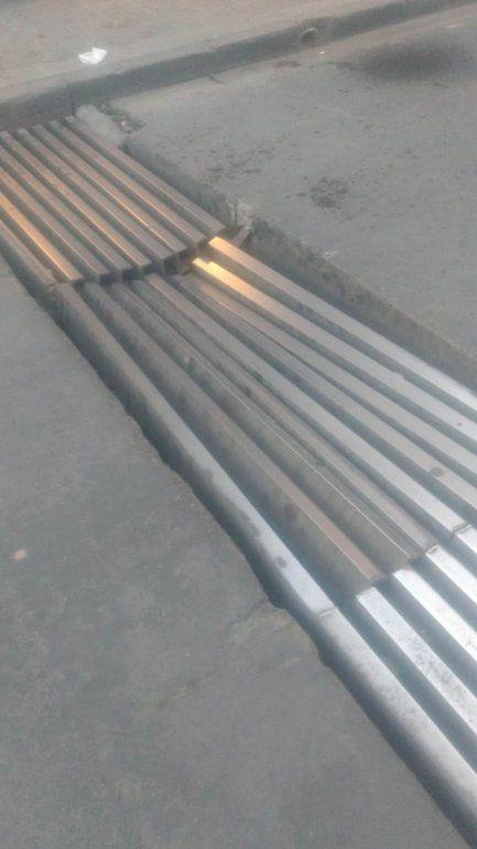 La esquina de Belgrano y Necochea estará cortada varios días por reparaciones en el guardaganado