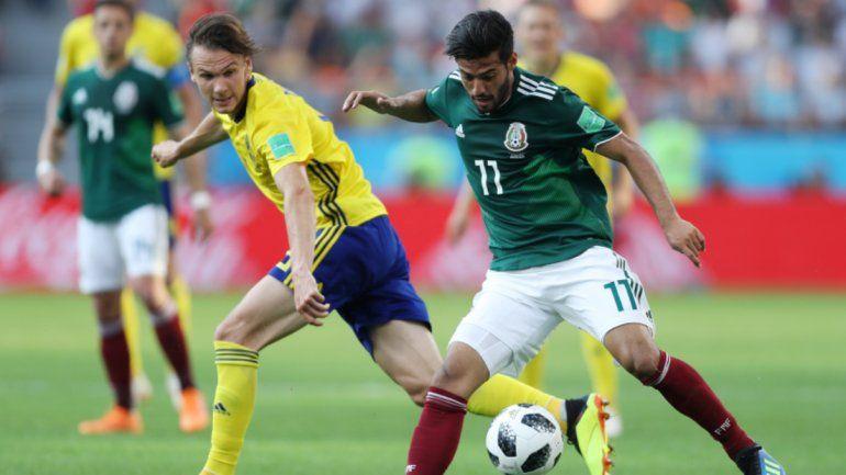 Suecia 3 - México 0: Los Aztecas clasificaron a pesar de la derrota