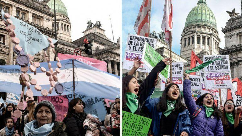 Se acrecienta la diferencia en contra del proyecto del aborto