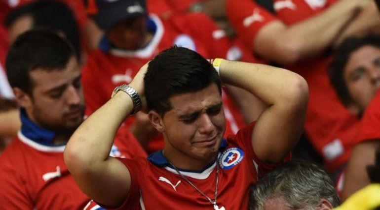 Mirá cómo reaccionaron los hinchas chilenos con la victoria Argentina ante Nigeria