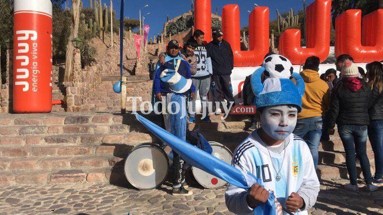 Humahuaca vivió el partido de la selección argentina con una multitud