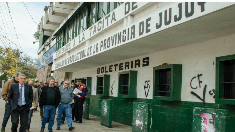 Iniciaron las obras de recuperación del Estadio Federación De Básquet