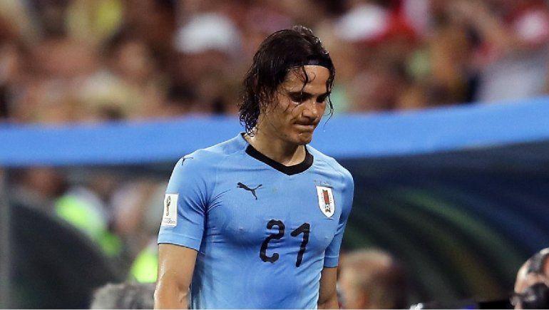 Edinson Cavani quedó descartado para el partido con Francia