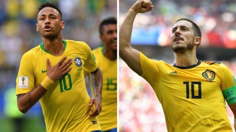 Brasil y Bélgica, el otro duelo por estar entre los cuatro mejores