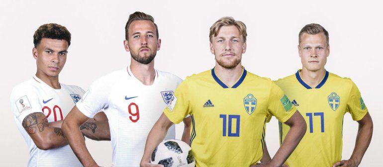 Inglaterra le gana a Suecia 1 a 0 . Seguí el minuto a minuto
