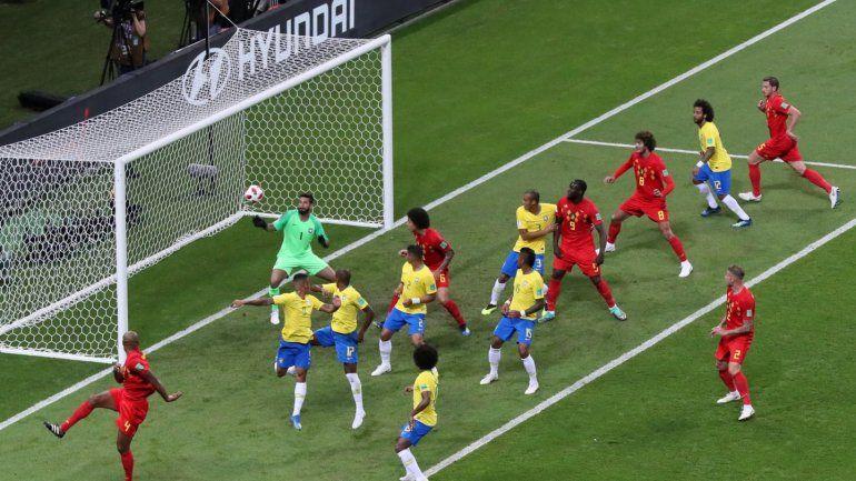 Tristeza nao tem fim: Bélgica se impuso 2 a 1 ante Brasil y lo dejó afuera del mundial