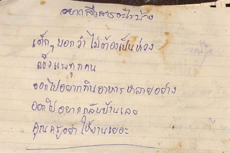 Las conmovedoras cartas que los chicos atrapados enviaron a sus familias