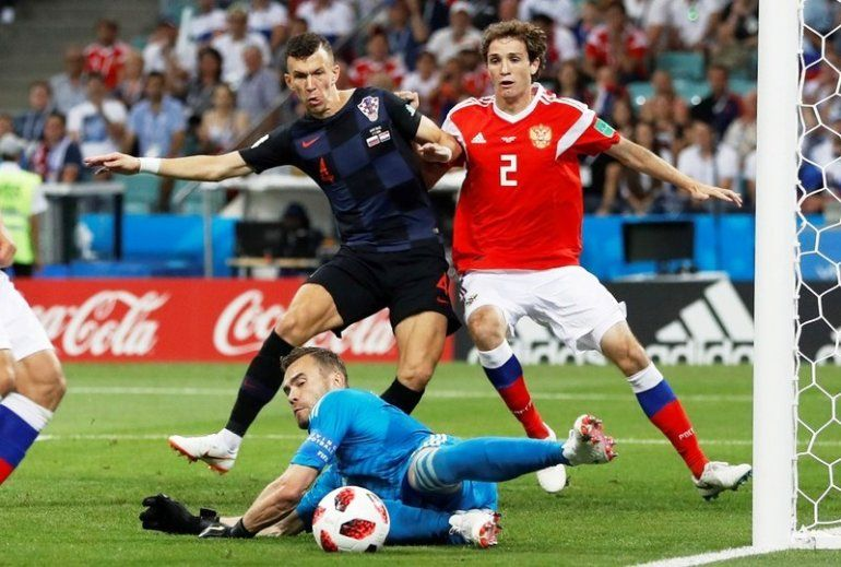 Croacia le ganó por penales a Rusia y se mete en las semifinales