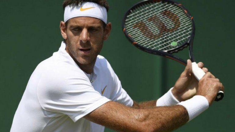 Wimbledon: Del Potro tenía ventaja de 2-1 ante Simon en los octavos de final pero el partido se suspendió por falta de luz