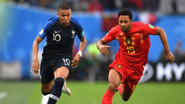 Francia 1 - Bélgica 0: Umiti metió el único gol y clasificaron los galos