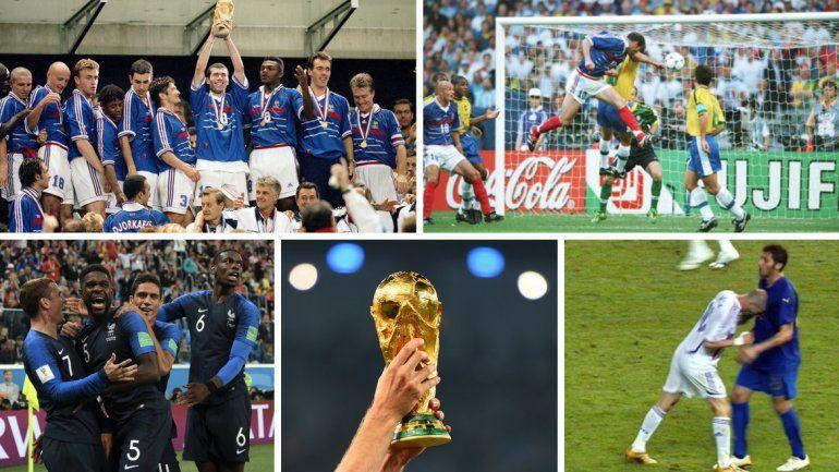 Francia jugará su tercera final en 20 años: mirá como le fue en las anteriores