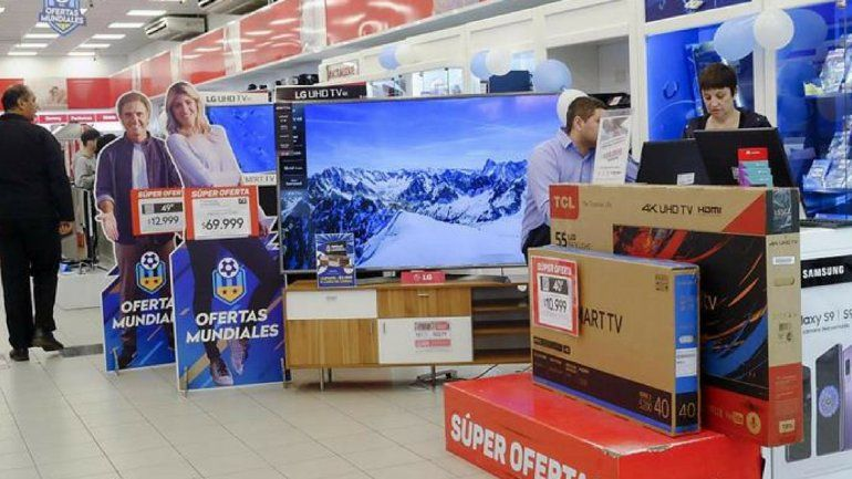 Fiebre mundialista: hubo récord de venta de televisores