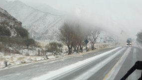 Alerta meteorológica por nevadas intensas en la provincia