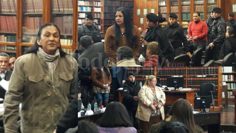Milagro Sala entró gritando Viva Perón y la descompensación de Mirta Shakira Guerrero demoró el inicio de la audiencia