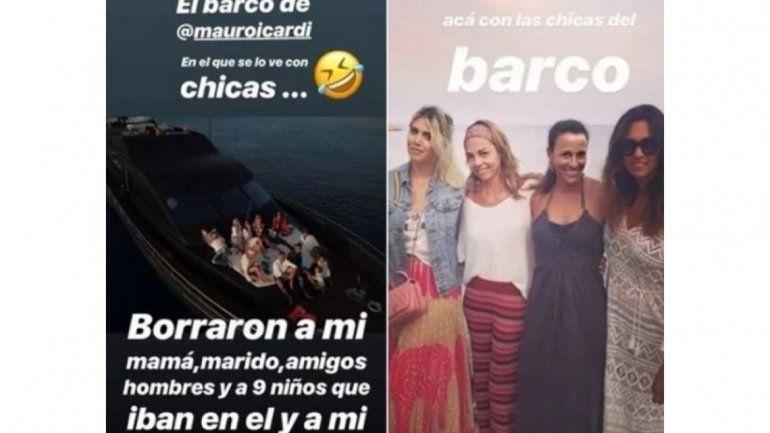 ¡Indignada! Wanda explicó la polémica por las fotos de Icardi en un yate con otras mujeres