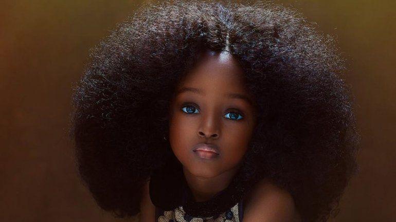 Tiene 11 años, es nigeriana y es considerada como la niña más hermosa del mundo