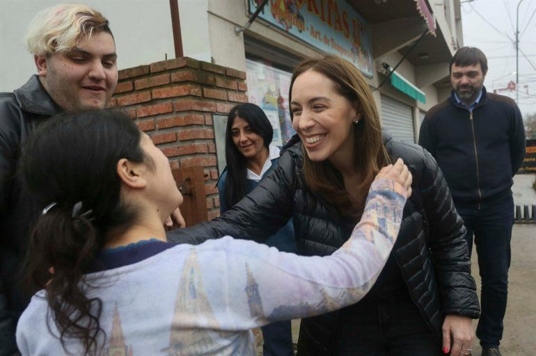María Eugenia Vidal encabezó un nuevo timbreo en territorio bonaerense
