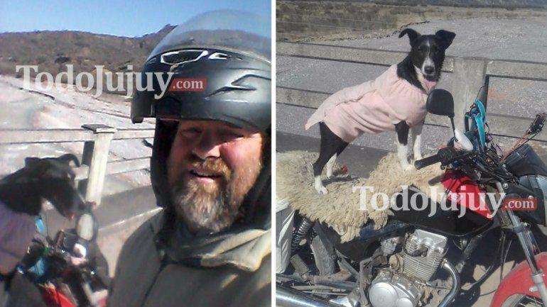 Viaja de Buenos Aires con su perra, en moto y perdió todos los papeles