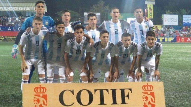 El seleccionado argentino Sub-20 derrotó a Venezuela por 4 a 0
