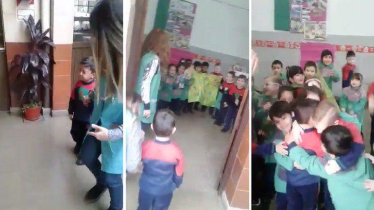 El emocionante recibimiento de los compañeros a un nene que estuvo internado por semanas