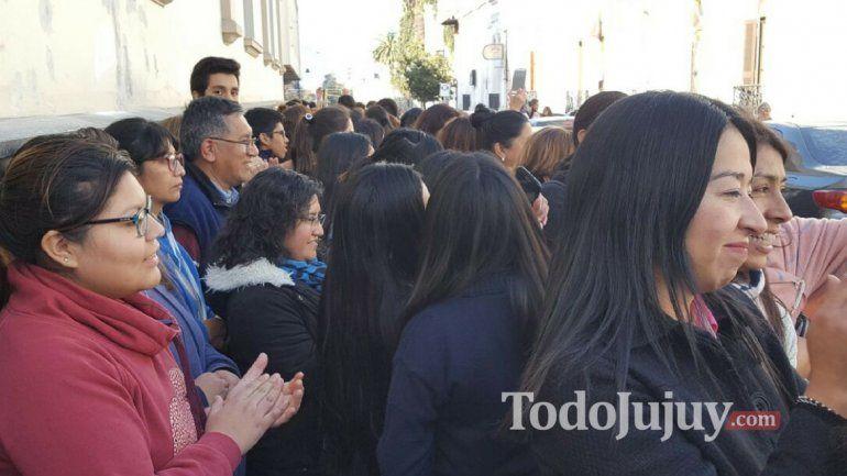 Abrazo simbólico al Colegio Nuestra Señora del Huerto